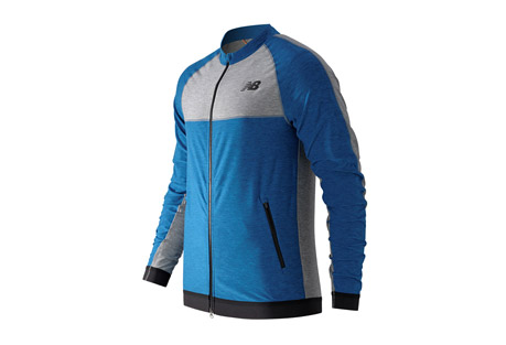 new balance n transit track jacket - men's- Save 62% Off - The N Transit Track Jacket is perfect for when you're on the go - and want to be noticed. Made of a soft knit fabric with elastane fiber, it has a snug fit while a modified collar and color blocking give it style. The men's fitness N Transit Track Jacket has a 2-way zipper and Y-fold cuff for versatile and stylish ventilation. Plus, NB DRY technology wicks sweat away fast, helping you stay comfortable as you move through the day.   Features:  - Material: 87% Polyester and 13% Spandex  - Athletic fit  - Shark reflective details  - Two way front zipper  - Y-fold elastic  - Zipper enclosed pockets