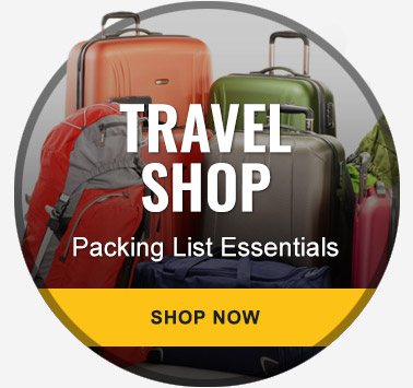 Travel Shop: Packing List Essentials - Shop Now