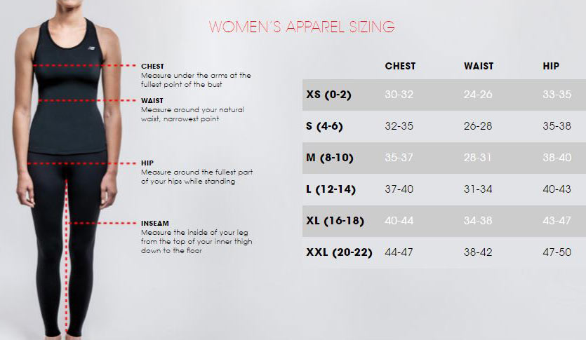 new balance clothes size guide
