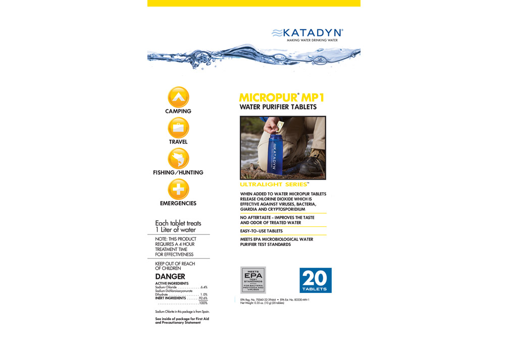 Leftlane Sports Katadyn Micropur Purification Tablets Package Of 20