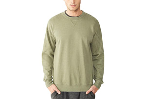 Lt French Terry Crew Quilted Sweatshirt - Men's