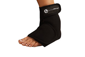 Foot Ice/Heat Wrap w/4 Small Ice Packs