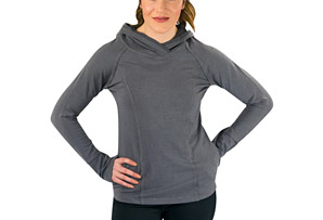 Stretch Cotton Hoodie - Women's