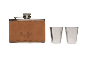 Bill Alder 3 oz. Flask & 2 Shot Glasses