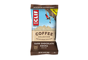 CLIF Dark Chocolate Mocha Bar w/Caffeine - Box of 12