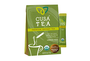 Cusa Tea Organic Green Tea w/Caffeine - Box of 10