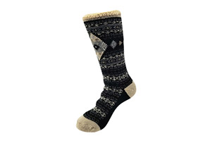Diamond Fairisle Thermal Socks - Women's