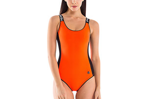Signature Round Neck One Piece Swimsuit - Women's