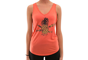 Pineapple Flowy V-neck Tank - Women's