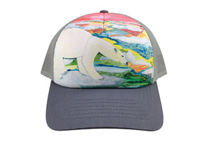 Adult Sublimation BB Hat - Polar Bear
