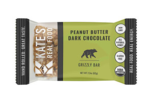 Kate's Real Food Grizzly Peanut Butter Dark Chocolate Bar - Box of 12