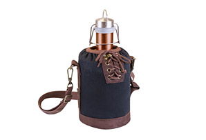 Insulated Growler Tote with 64 oz. Copper Stainless Steel Growler