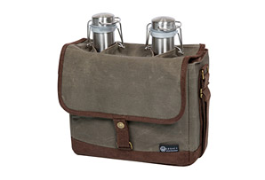 Insulated Double Growler Tote with 64-oz. Stainless Steel Growlers