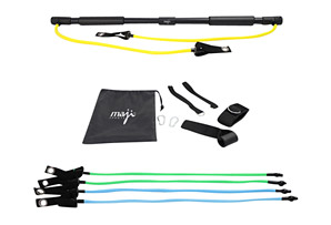 Portable Exercise Bar w/ Resistance Bands