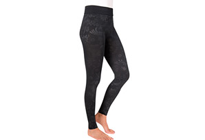 Embossed Fleece-Lined Leggings - Women's