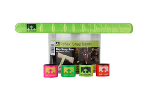 Reflex Reflective Snap Bands - 20 Pack