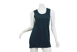 Slub Jersey Sleeveless Crew + Trim - Women's