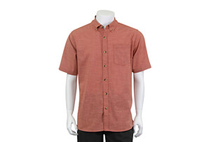 Cross Hatch Button Up Short Sleeve - Men's