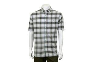 Herringbone Button Up Short Sleeve - Men's