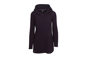 Long Sleeve Stripe Jacquard Fleece Hoodie - Women's