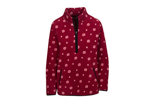1/2 Zip Print Micro Fleece - Women's