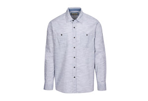 L/S Chambray Crosshatch with Faded Wash - Men's