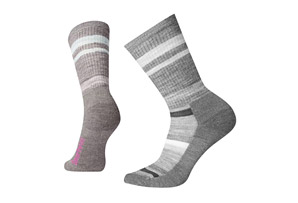 Stripe Hike Lite Crew Socks - Women's