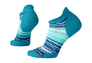 PhD Run Light Elite Striped Micro Socks - Women's