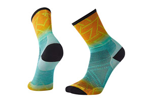PhD Run Ultra Light Print Crew Socks