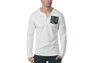 Super Lux L/S Henley - Men's