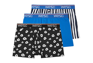 Benjamin Big Poppy Assorted 3 Pack Boxers - Men's