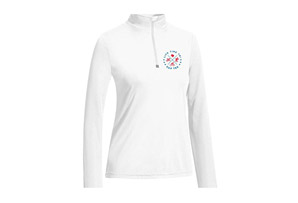 Left Chest Print 1/4 Zip Pullover - Women's 2017