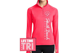 Left Chest Print Vertical Logo 1/4 Zip Tech Pullover - Women's 2017