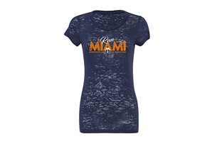 'RunMiami' SS Burnout Tee - Women's