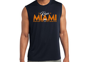 'RunMiami' Sleeveless Tech Tank - Men's