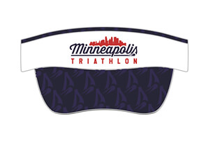 Tech Elastic Band Visor - 'Skyline' Design MPLS Tri