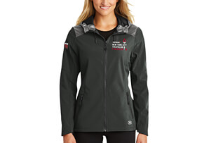 Hooded Water-Resistant Soft-Shell Jacket - Embroidered 'Finisher 2019' Design - Women's