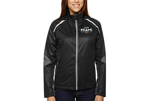 'Dynamo' Bonded Zip Jacket - Black/Grey 'Embroidered Design' - - Women's