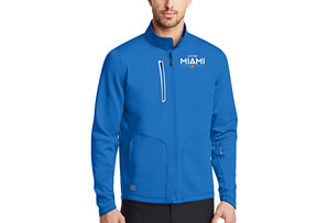 OGIO Tech Zip Jacket - Electric Blue 'Embroidered Design' - - Men's