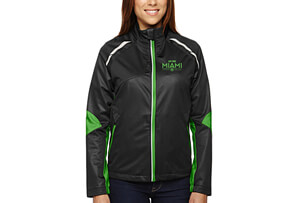 'Dynamo' Bonded Zip Jacket 'Embroidered Design' - - Women's