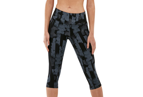 Print Mid-Rise Pocket 3/4 Compression Tights - Women's