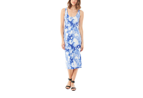 Cotton Modal Racer Midi Dress - Women's