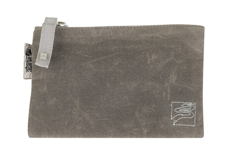 Waxed Canvas Satch Zip Pouch - Small