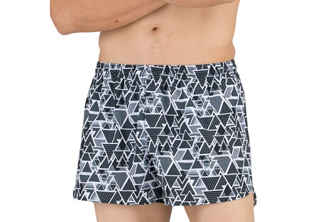 "Stretch 3"" Printed Half Split Trainer Short - Men's"