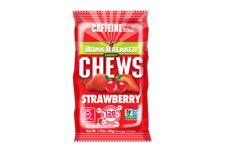 Strawberry Energy Chews w/Caffeine - Box of 10