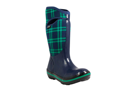Plimsoll Plaid Tall Boots - Women's