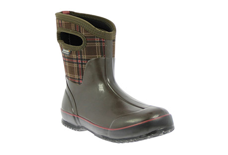 Classic Winter Plaid Mid Boots - Women's