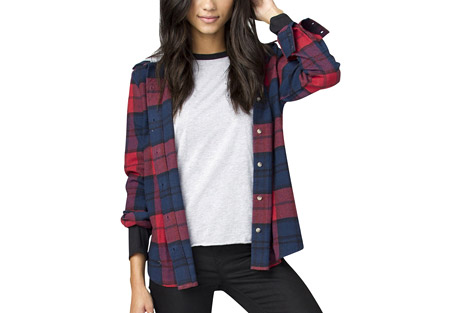 Wilson Boyfriend Fit Hooded Flannel - Women's