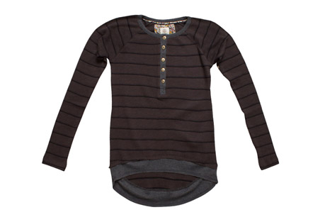 Manhattan Stripe Thermal  Long Sleeve - Women's