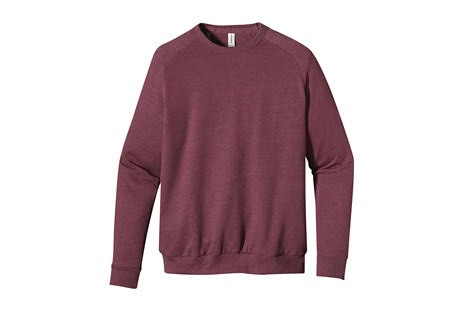 Heathered Fleece Raglan Crew - Men's